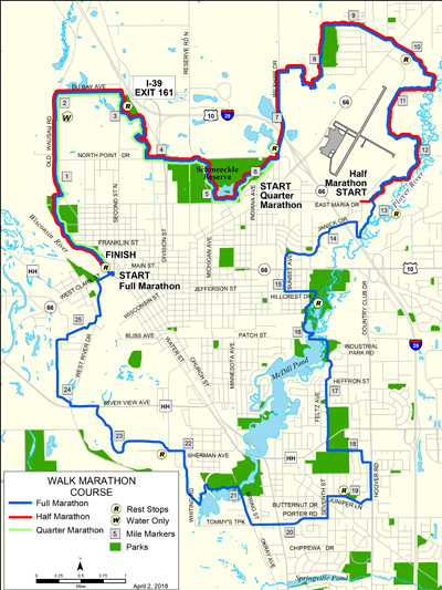 Stevens Point Campus Map.Walk Wisconsin Active Portage County